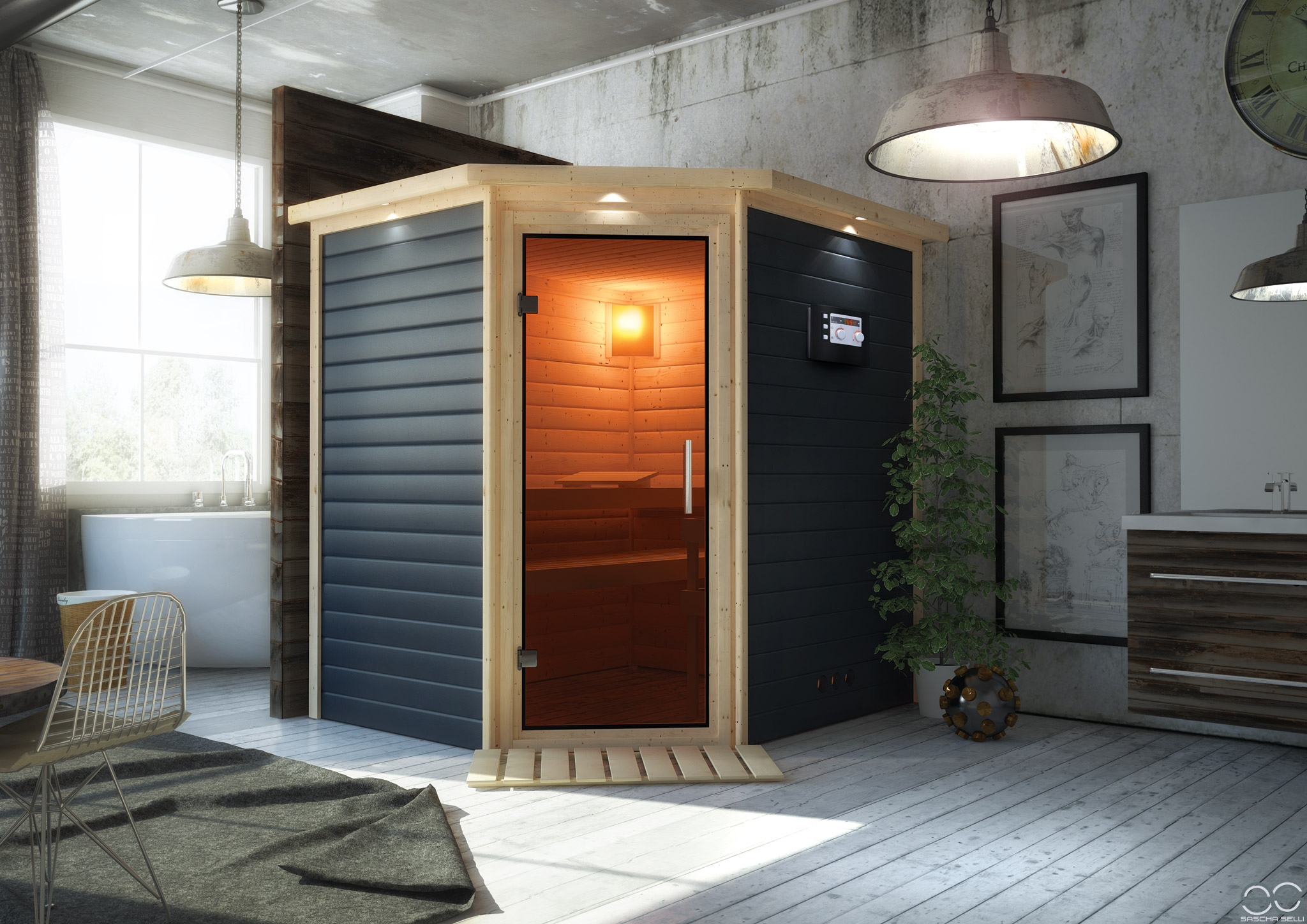 karibu sauna mia saschaselli. Black Bedroom Furniture Sets. Home Design Ideas