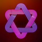 Neon Star of David